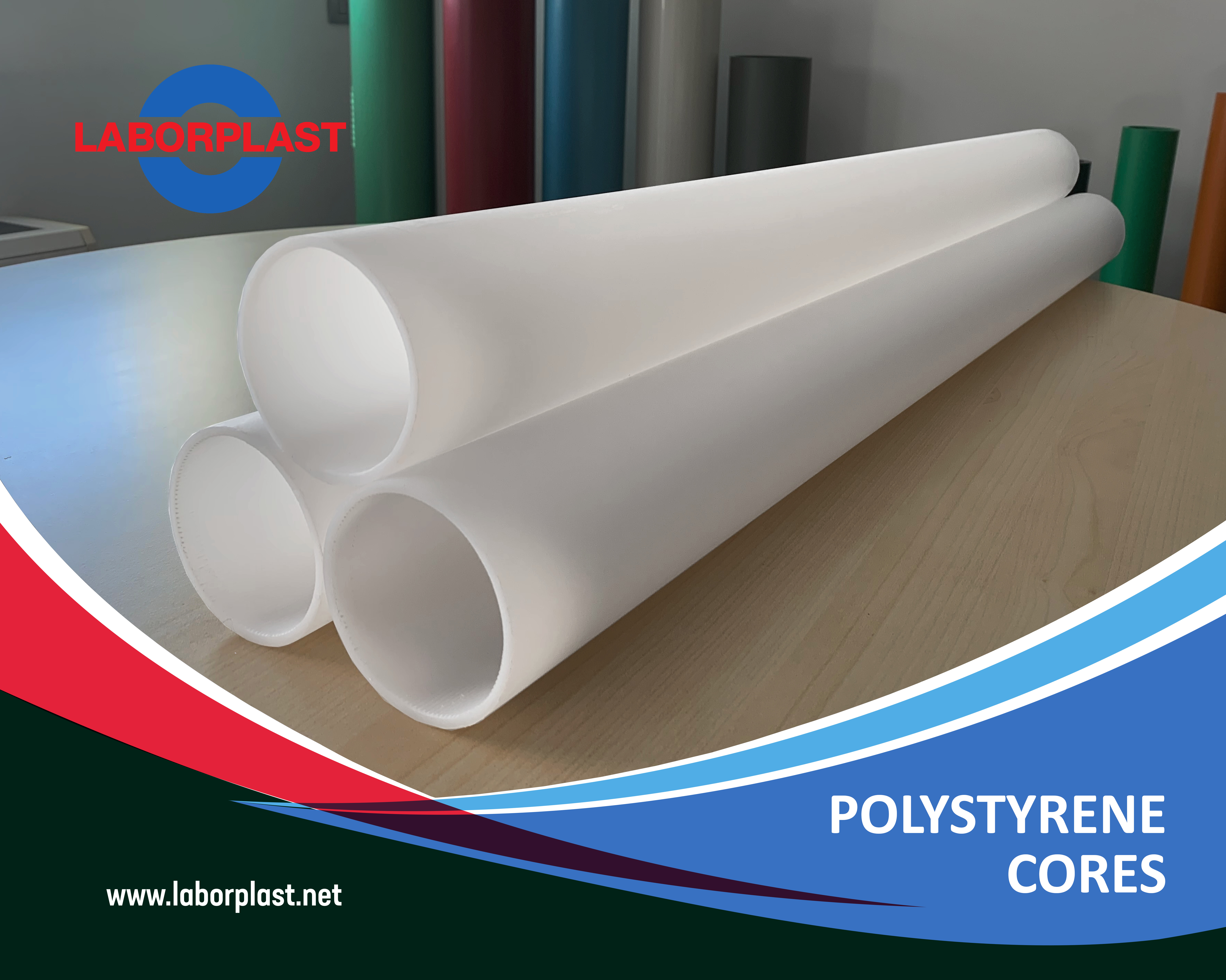 New High Impact Polystyrene cores (HIPS)